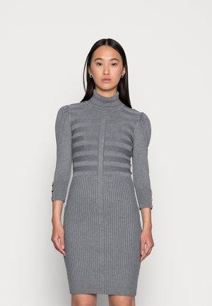 Vestido de punto - gris anthracite
