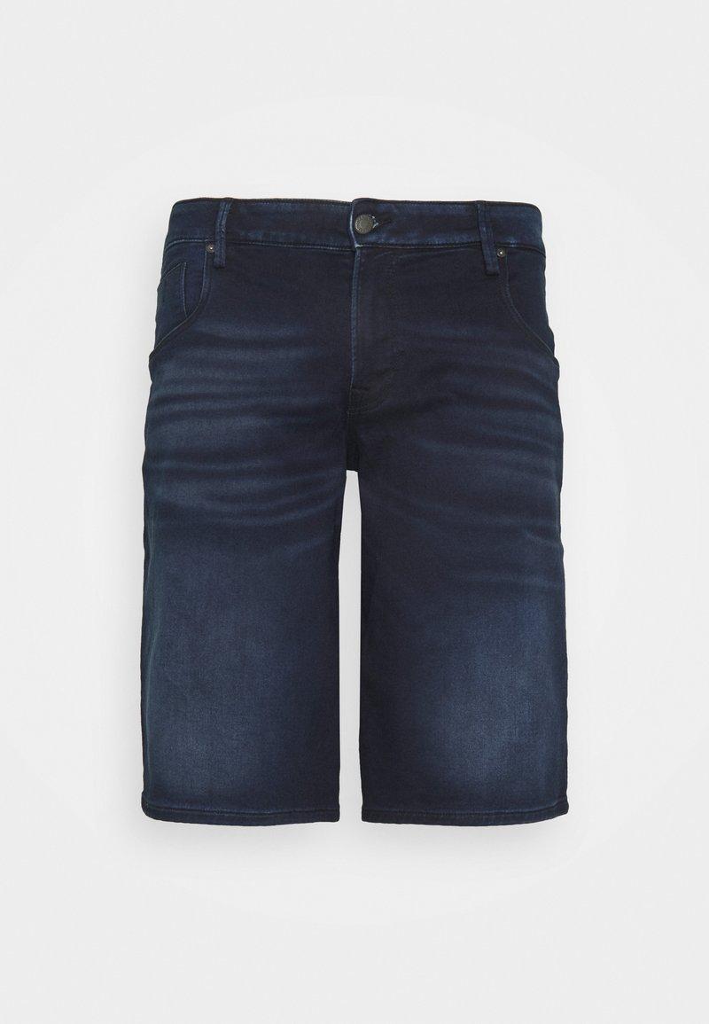 Jack & Jones - JJIRON JJLONG - Denim shorts - blue denim