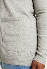 Zizzi - LONG CARDIGAN - Cardigan - light grey melange - 4