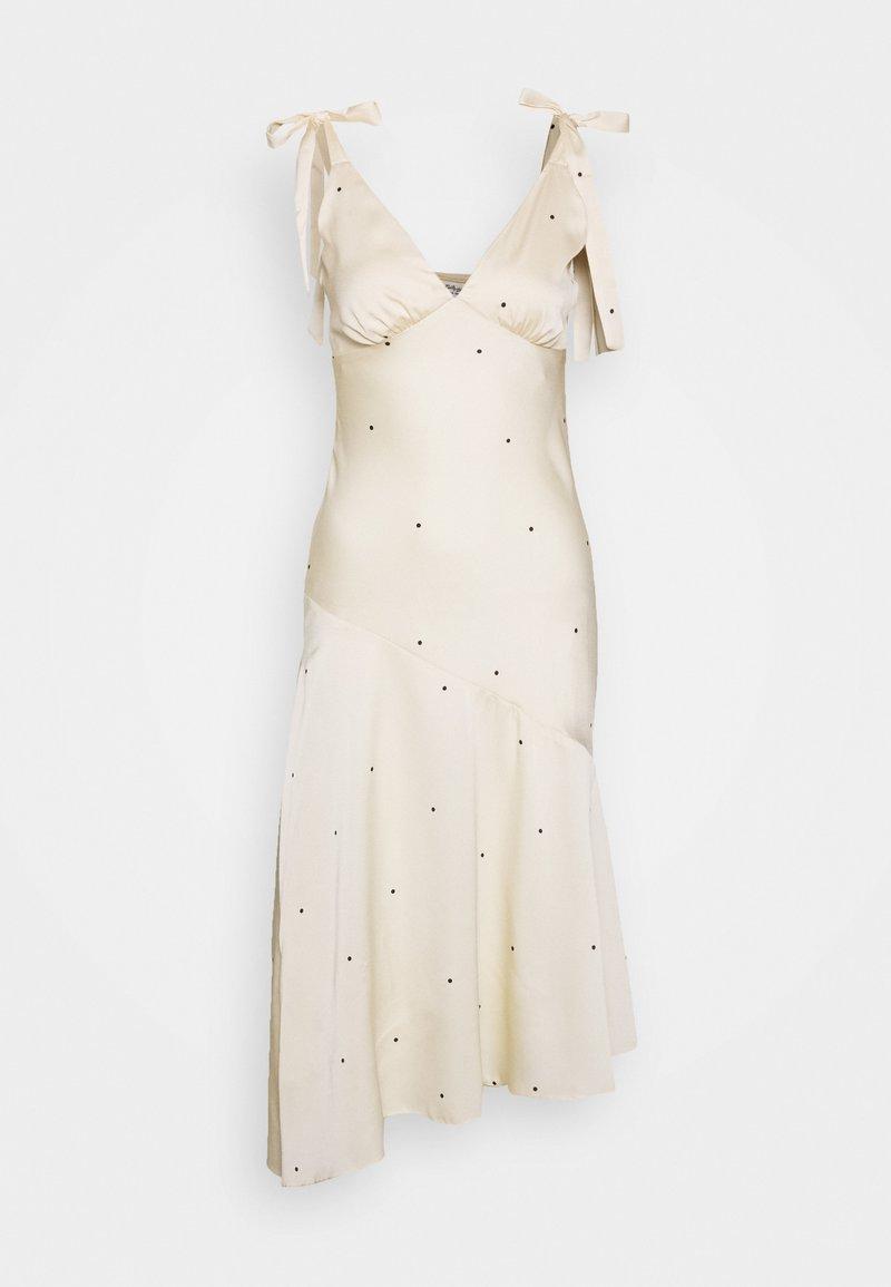 Miss Selfridge - SPOT MIDI DRESS - Koktejlové šaty/ šaty na párty - nude