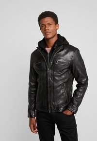Oakwood - DRINK - Leather jacket - black - 0