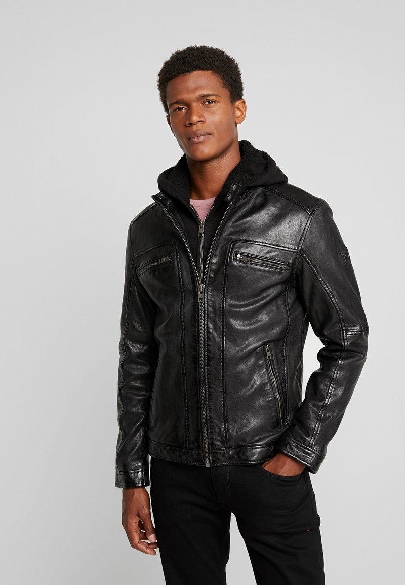 Oakwood - DRINK - Leather jacket - black