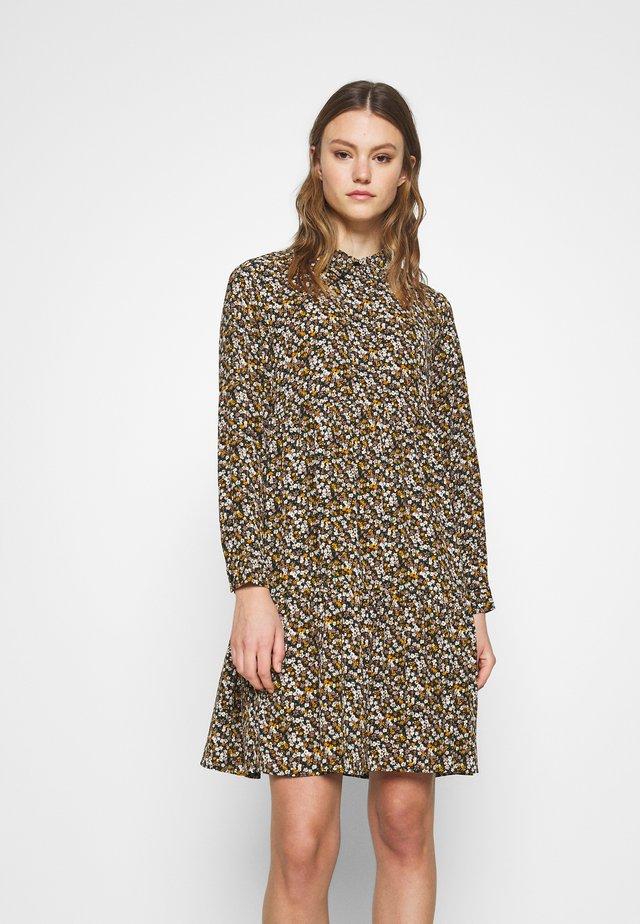 JDYPIPER DRESS - Shirt dress - black/yellow