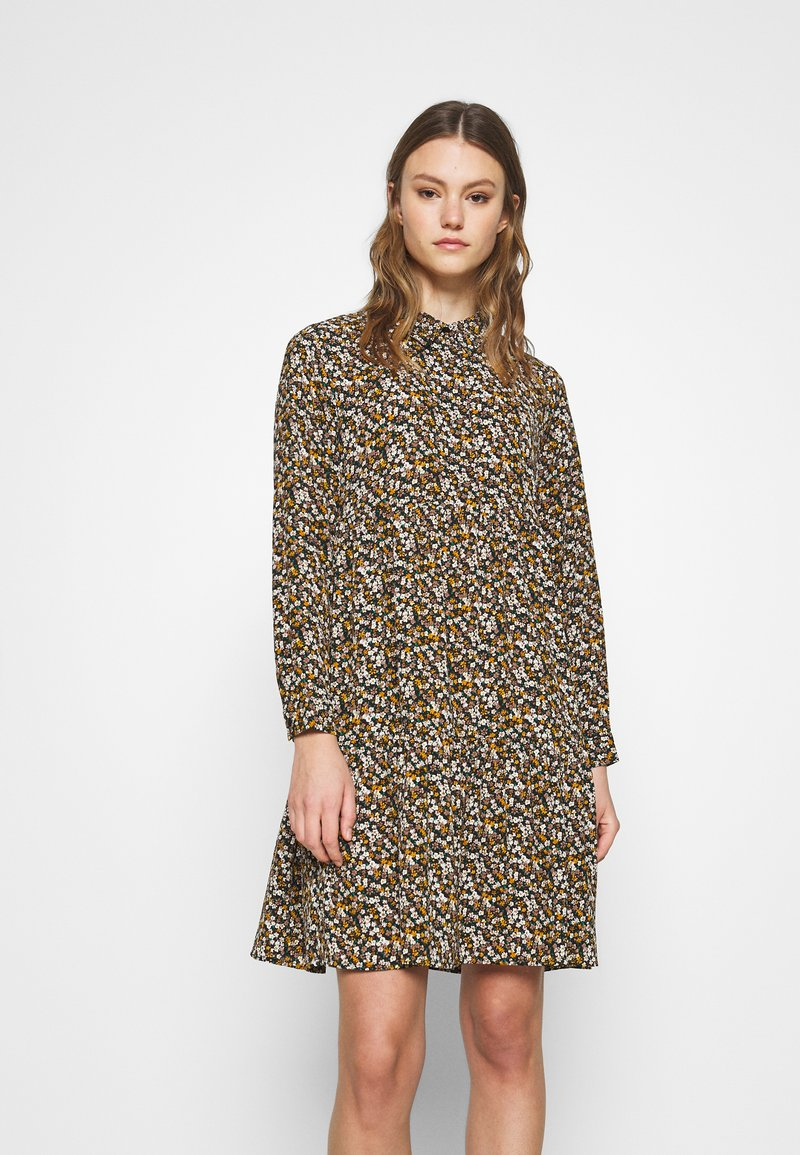 JDY - JDYPIPER DRESS - Skjortekjole - black/yellow