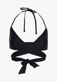 SCOOP WRAP SOLID - Bikini-Top - true black