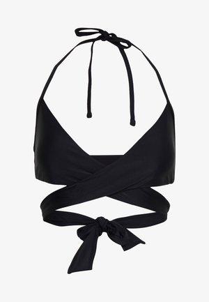 SCOOP WRAP SOLID - Bikini top - true black