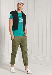 Superdry - Print T-shirt - ocean green marl - 0