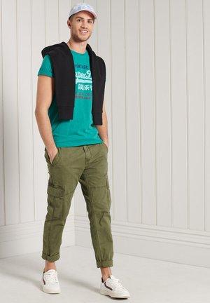 Print T-shirt - ocean green marl