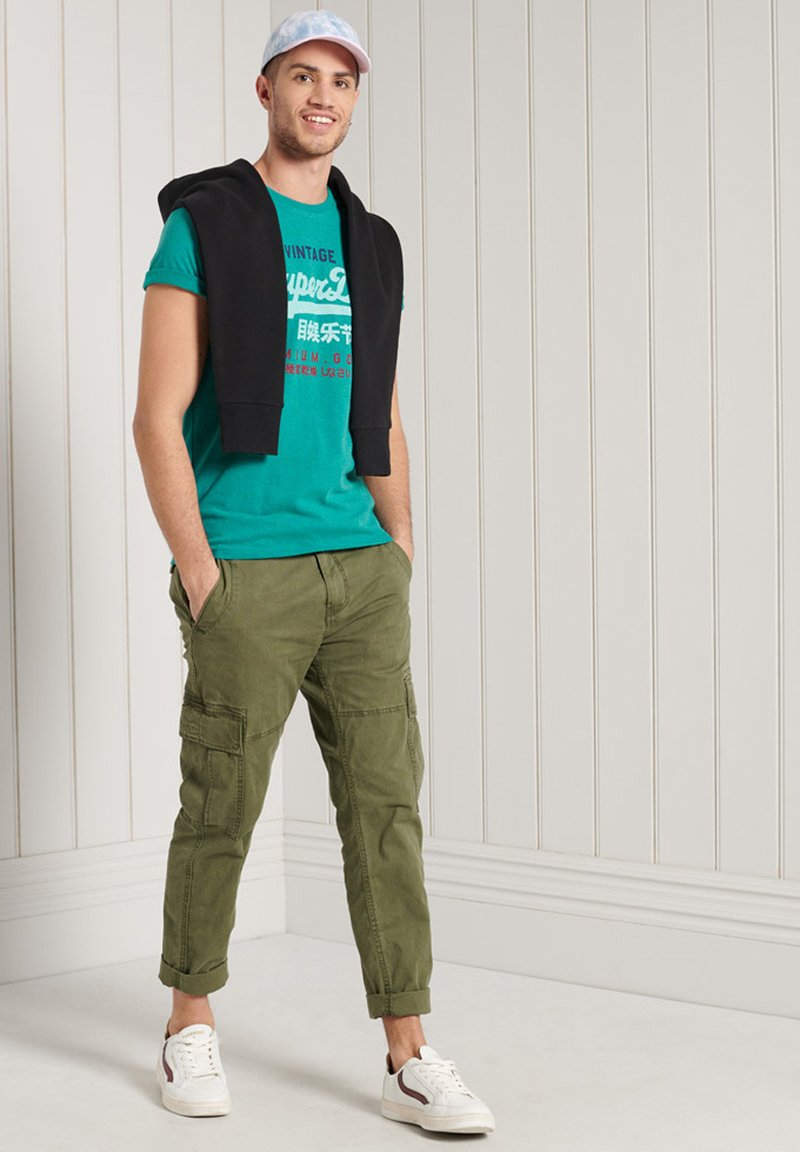 Superdry - Print T-shirt - ocean green marl