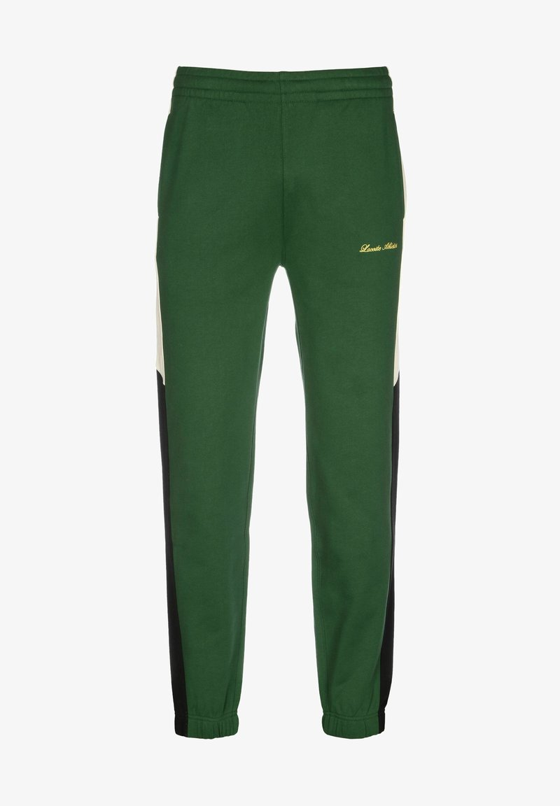 Lacoste LIVE - Tracksuit bottoms - green/multico
