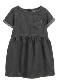 Next - DENIM POCKET DRESS (3MTHS-7YRS) - Sukienka letnia - black - 0