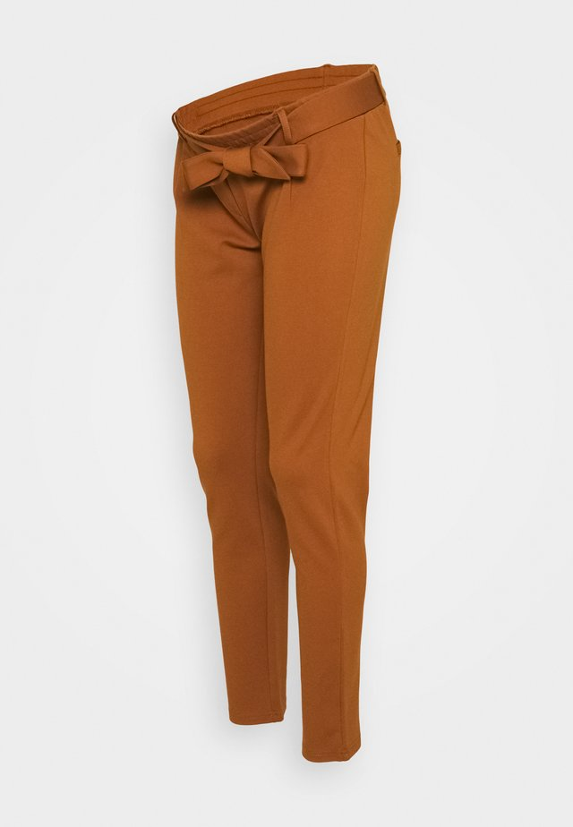 PCMBEATE TIE PANTS - Bukse - mocha bisque