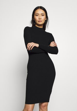 BASIC - Strikket kjole - black