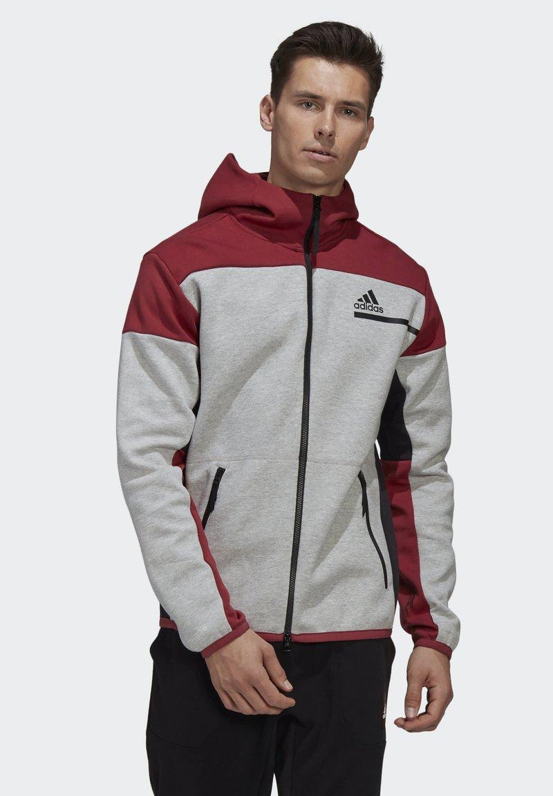 adidas Performance - Zip-up hoodie - grey