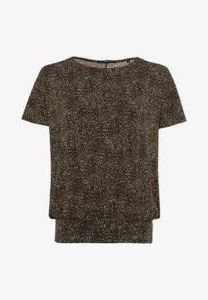 Print T-shirt - olive green