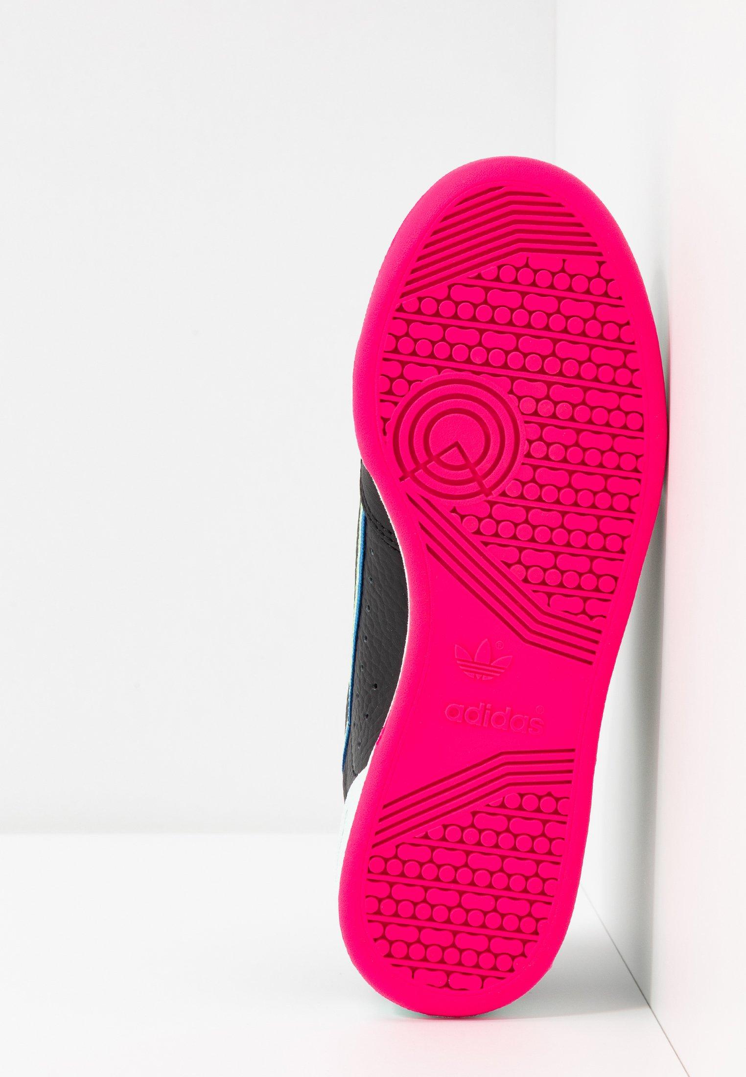 Adidas Originals Continental 80 - Sneakers Core Black/hi-res Yellow/true Blue