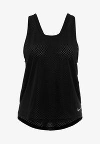 Nike Performance - MILER TANK BREATHE - Sports shirt - black/reflective silver - 5