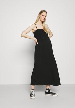 OLMEMMA SMOCK DRESS - Maxi dress - black