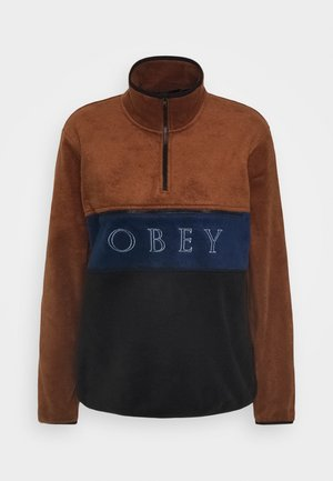 DENALI HALF ZIP - Sweatshirt - brown/black