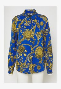 Button-down blouse - blue/gold