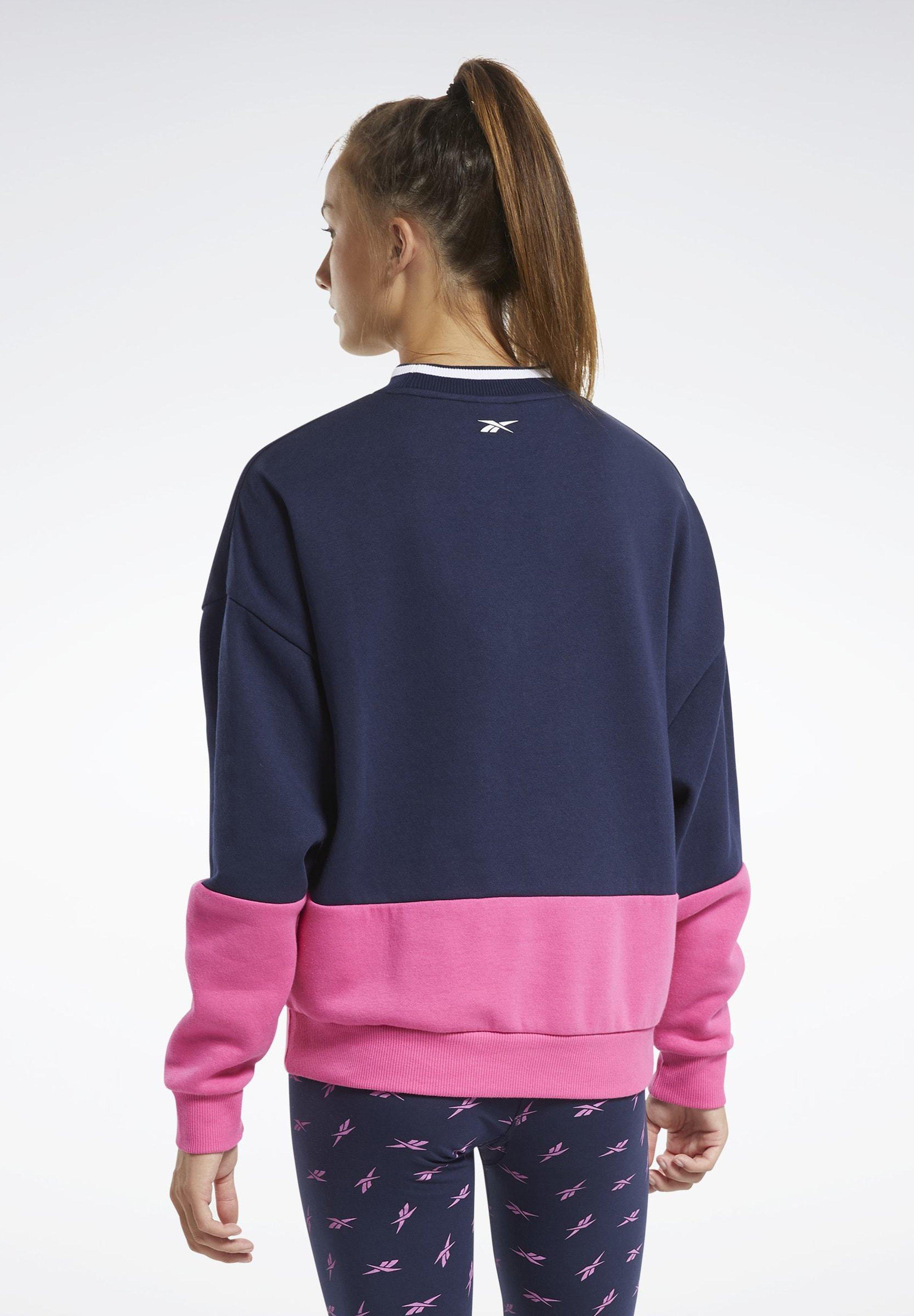 Reebok TRAINING ESSENTIALS LOGO CREW SWEATSHIRT - Sweatshirt - blue rlc38