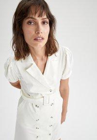 DeFacto - Shirt dress - white - 3
