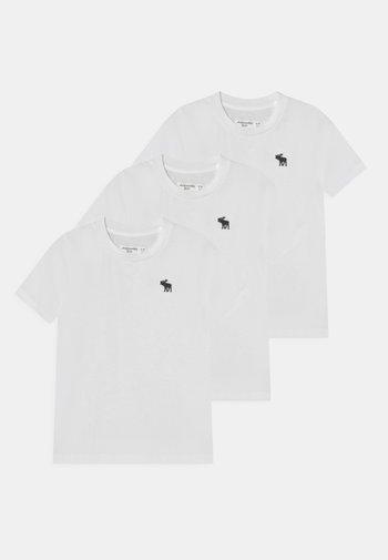 3 PACK - Basic T-shirt - all white