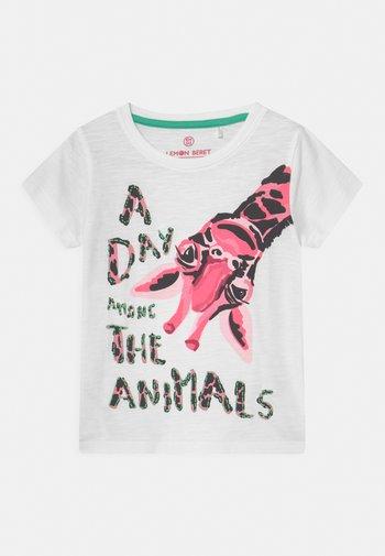 SMALL GIRLS - Print T-shirt - optical white