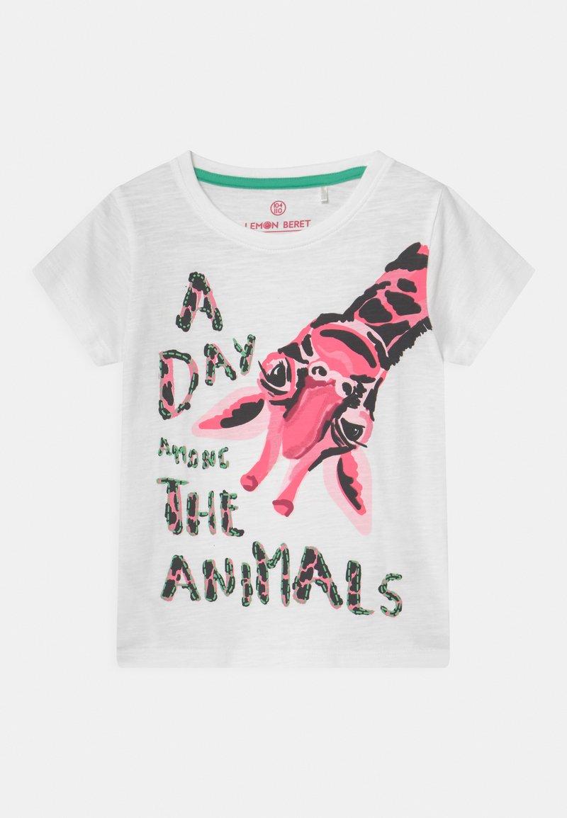 Lemon Beret - SMALL GIRLS - T-shirts print - optical white