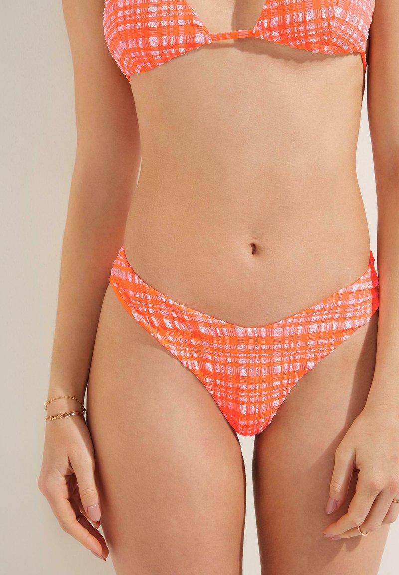 Tezenis - MADRAS - Bikiniunderdel - sweet coral/bianco