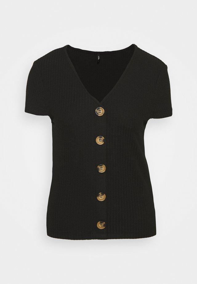 ONLNELLA BUTTON  - T-shirt print - black