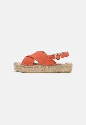 MARLIE - Platform sandals - coral suede