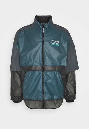 Summer jacket - black/teal