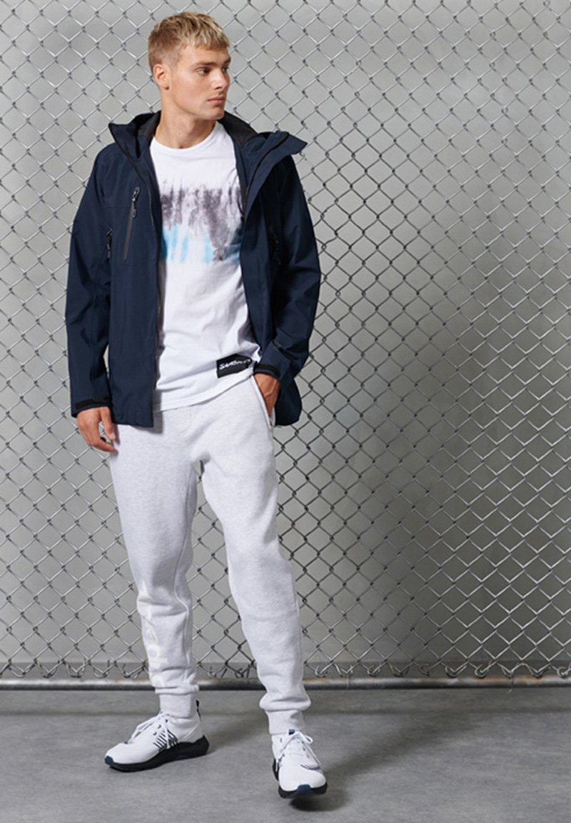 Superdry - Tracksuit bottoms - ice marl