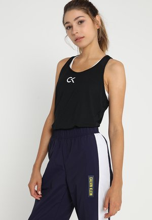 TANK LOGO - Sports shirt - black