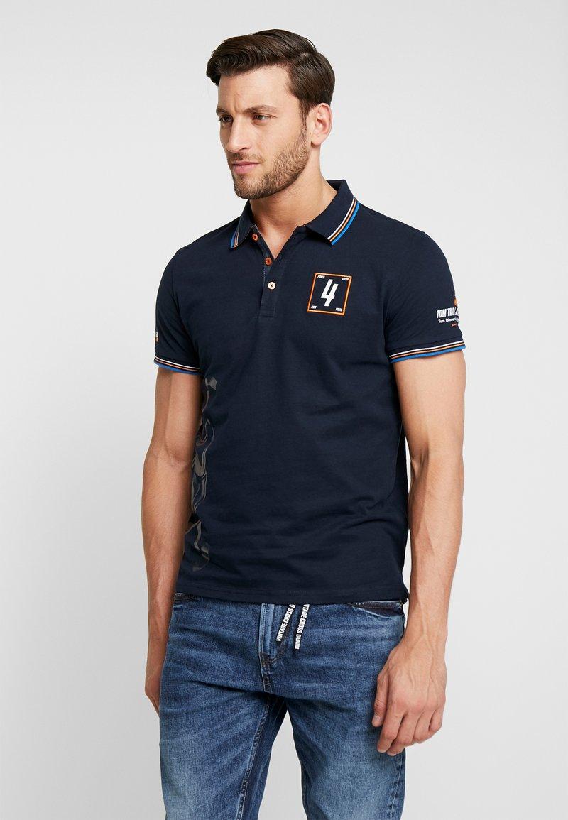 TOM TAILOR - DECORATED TEAM - Poloshirts - sky captain blue