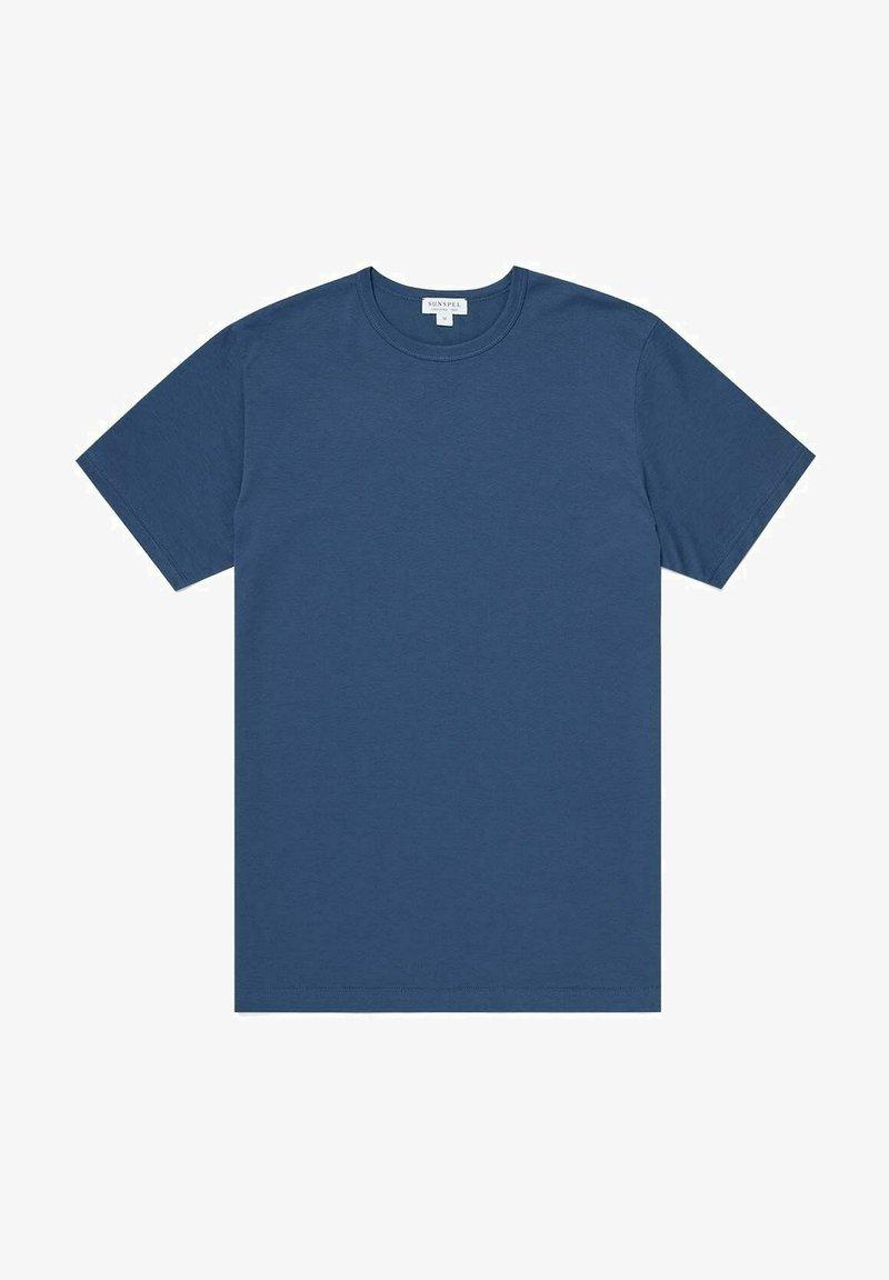 Sunspel - Basic T-shirt - smoke blue