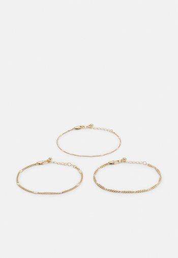 PCAHOLA BRACELETS 3 PACK - Bracelet - gold-coloured