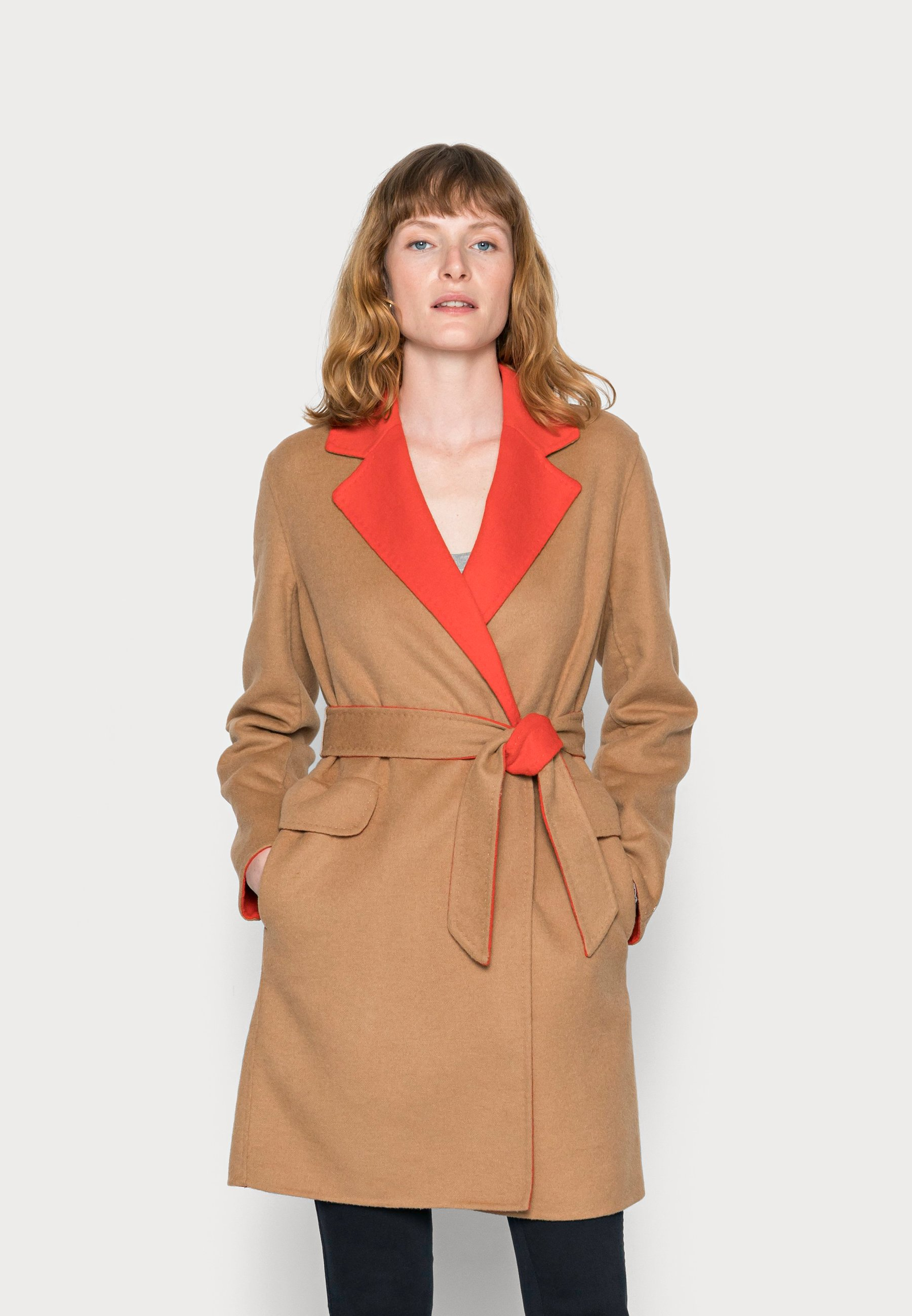Women BLEND BELTED COAT - Classic coat