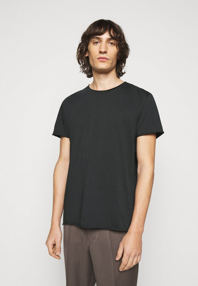 ROLL NECK TEE - T-shirts - dark spruce