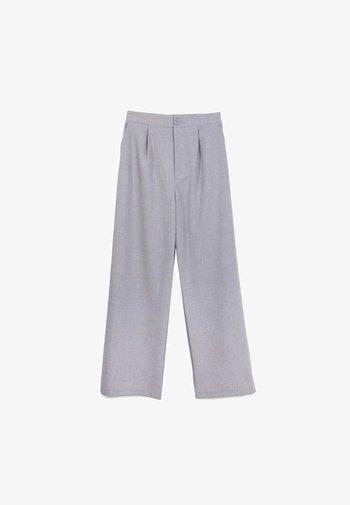 WIDE LEG HOSE - Tygbyxor - grey