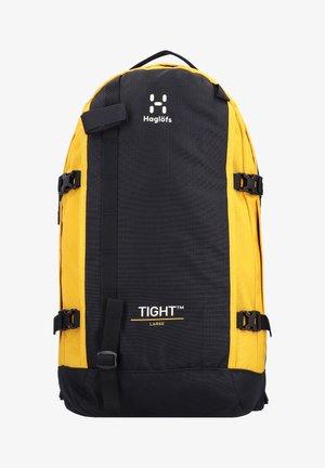 TIGHT - Rucksack - true black/pumpkin yellow