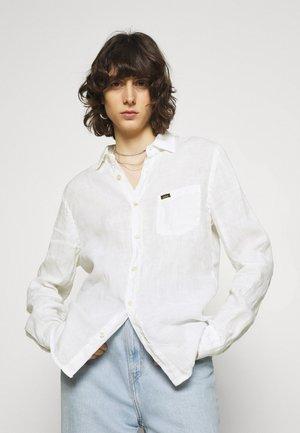 LUCAS - Button-down blouse - white