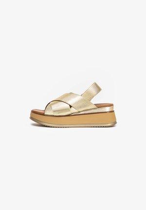 Sandales à plateforme - gold gld