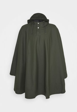 UNISEX CAPE - Waterproof jacket - green