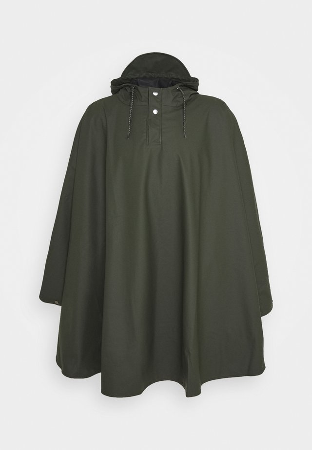 UNISEX CAPE - Impermeabile - green