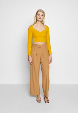 SLFSILL PANT - Trousers - tobacco brown