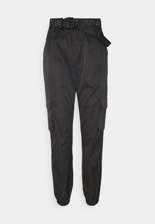 CARGO PANTS - Bukser - black