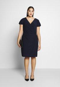 Lauren Ralph Lauren Woman - MID WEIGHT DRESS - Jersey dress - dark blue - 1