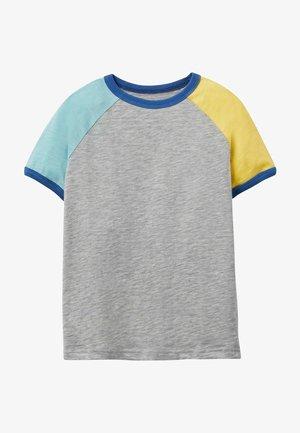 Print T-shirt - hellgrau meliert